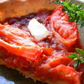 Tarte allge tomates et confit d'oignon