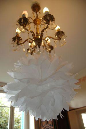boule de papier blanche