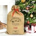 Les sacs de livraison du père noël : texte personnalisable en anglais et en français (code promo)