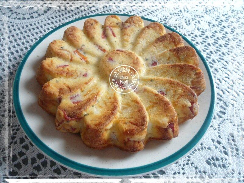 gâteau moelleux ricotta féta poivrons