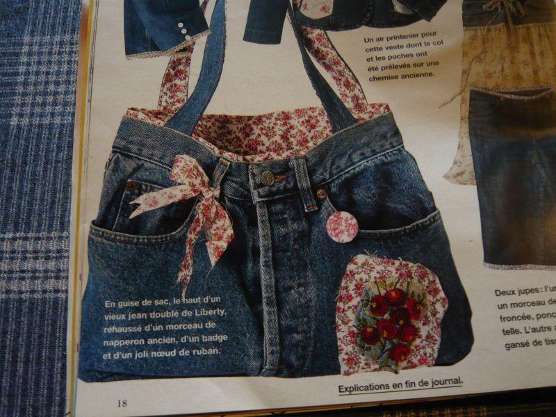 Attirant sac fait avec un jean 7 neige et un sac en jean depuis longtemps j avais envie de - Que faire avec un vieux jean ...