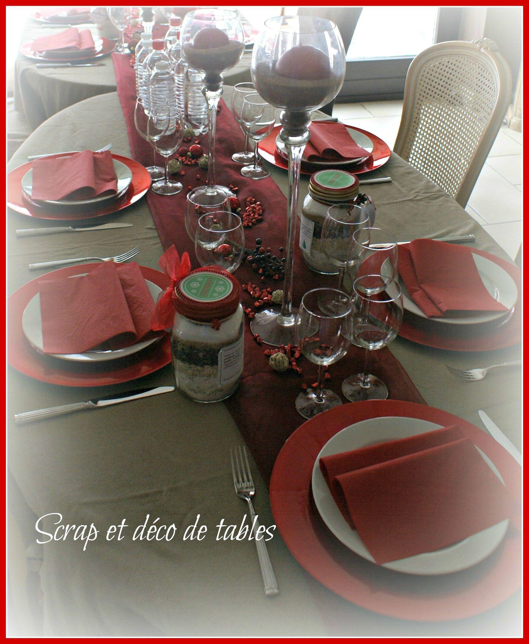 #B61515 DECO DE TABLES DE NOËL EN ROUGE Scrap Et Déco De Tables 6185 decoration de table de noel en scrap 1683x2048 px @ aertt.com