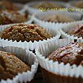 Muffins au pomelos et noix de coco, sans gluten et sans lactose