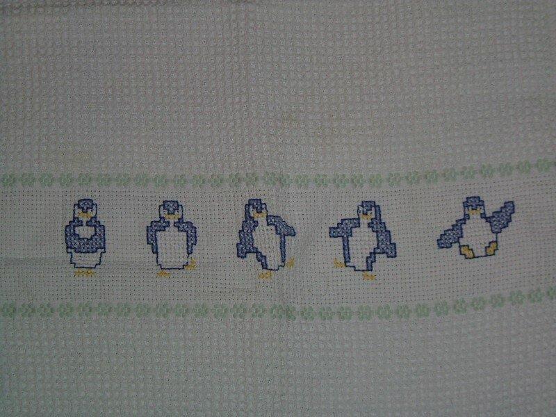 serviette au pingouins