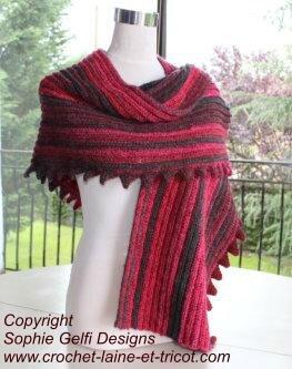Super easy shawl 1