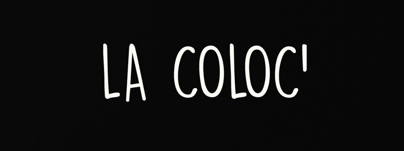 la coloc logo noir et blanc