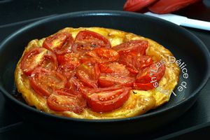 tarte tatin tomate, basilic, jambon cru, gourmand magazine