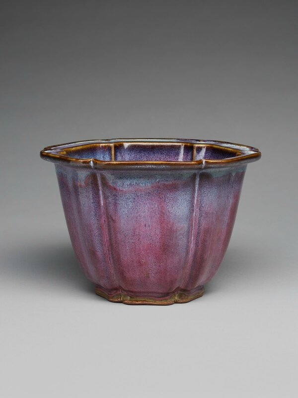 Lobed Flowerpot with Foliate Rim, Ming dynasty, 1368-1644, probably 15th century, 1942