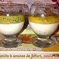 Panna cotta vanille & graines de pavot, coulis de fruits exotiques