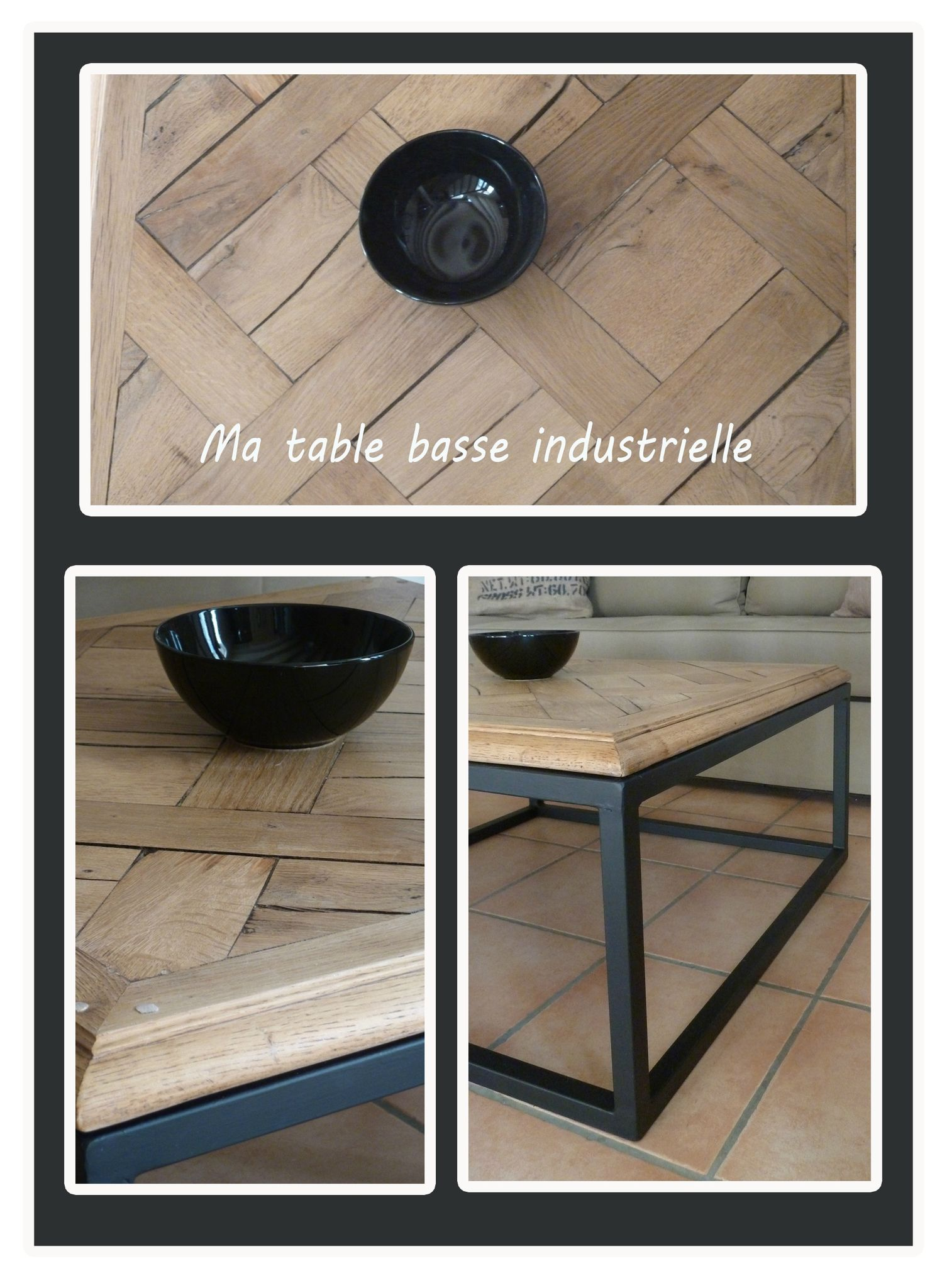 Ma table basse industrielle au 42 home - Table basse industrielle la redoute ...