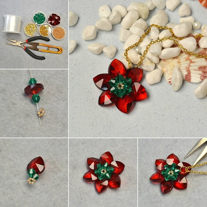 1080-Tutorials-on-Glass-Bead-Flower-Pendant-Necklace