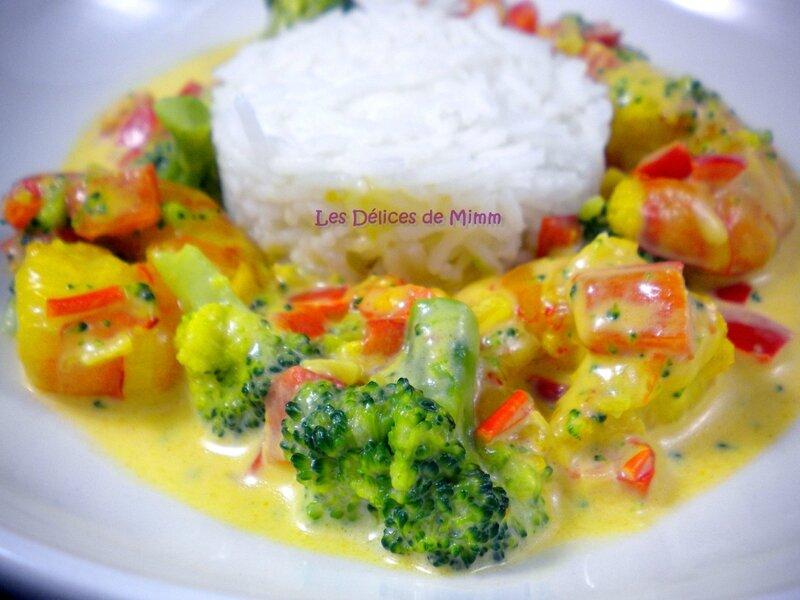 Gambas (scampis) aux petits légumes et au safran 5