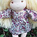 Pauline (adoptée) poupée à la peau vanille,