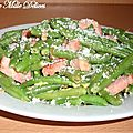 Haricots verts  la carbonara