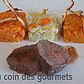 Trilogie de purées - (carotte/panais/patate douce) - chips aux panais