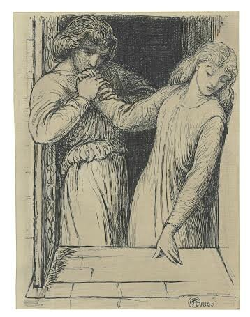 Dante Gabriel Rossetti (1828-1882), Study for 'Hamlet and Ophelia'