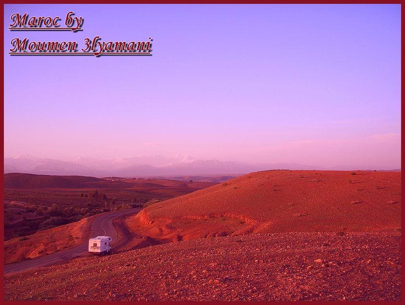 Paysage Route Marrakech