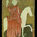 ca 1440-1445 - cartes peintes du Hofjagdspiel - reine des rapaces - itrionfidotcom