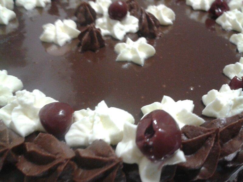 entremet au chocolat façon forêt noire