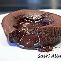 Coulant au chocolat sans gluten - toutes saisons