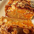 Cake moelleux abricots-amandes