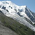 Le glacier des Bossons, vue depuis l'Aiguille du Midi (74)