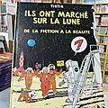 Ils ont marché sur la lune, on a marché sur la lune, objectif lune, tintin par hergé, éditions originales belges et françaises