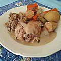 Poule au pot du bon roy henri iv et sa sauce blanche