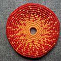 Frisbee soleil fond rouge #fsr000109