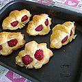 Mini croissants amande framboise