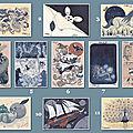 Impression de mes dessins inktober sous la forme de cartes postales