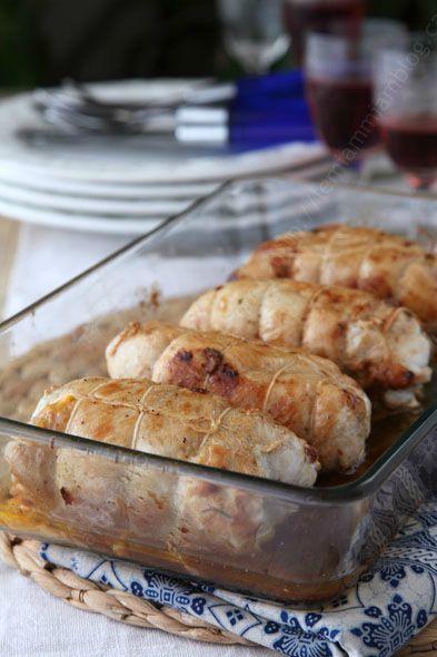 paupiettes cuites dans le plat a gratin 1 PAUPIETTE DE POULET MILANAISE le miam miam blog copie