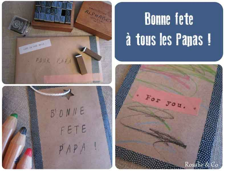 un marque page pour la f te des p res rosalie co le blog du fait main et du diy. Black Bedroom Furniture Sets. Home Design Ideas