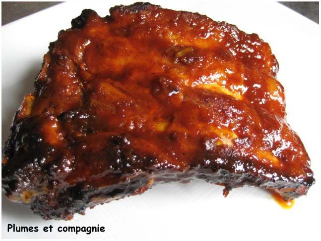 Travers de porc caram lis s cuisson au four plumes et - Cuisson des pleurotes recette de cuisine ...