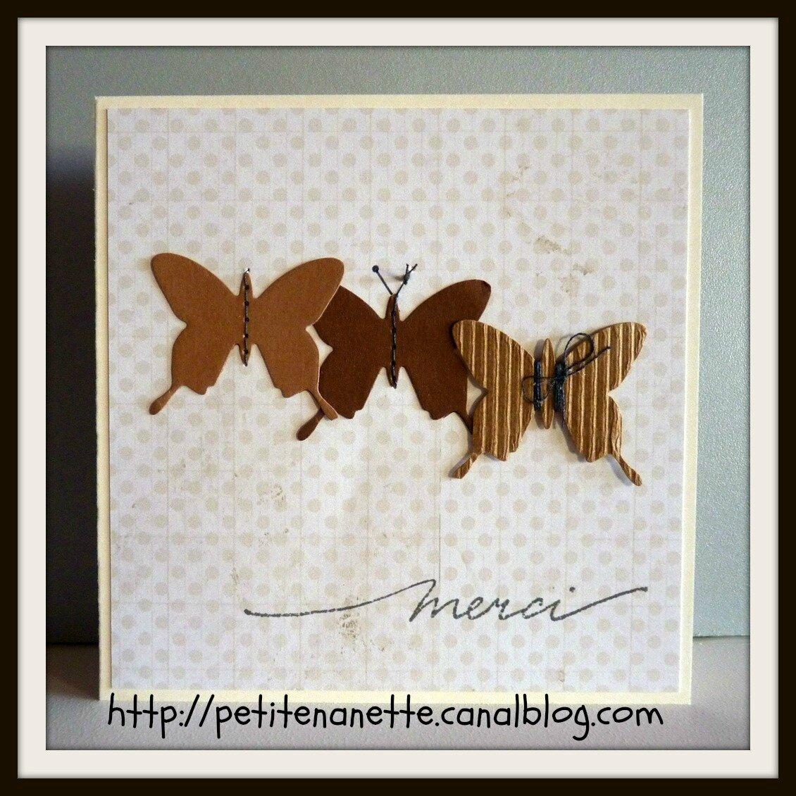 Carte papillon...