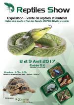 Affiche Reptiles Show Expo - Vente Béville-le-comte 2017
