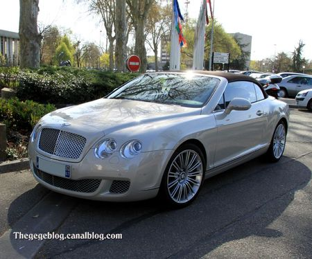 Bentley continental GTC speed six de 2009 (Retrorencard avril 2012) 01