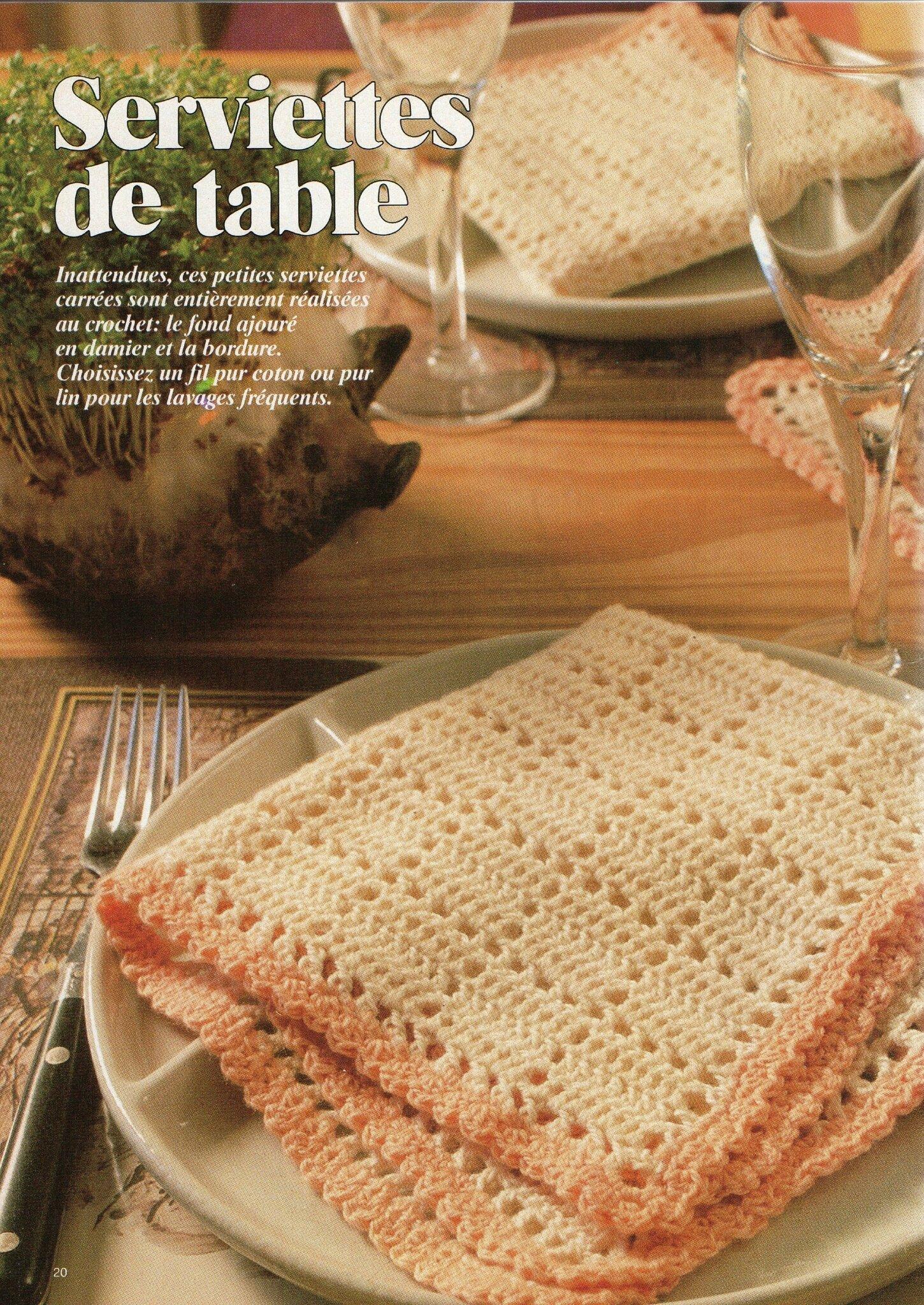 Crochet serviettes de table ou set de table pimp ta - Set de table crochet ...