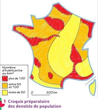 Croquis densités de population