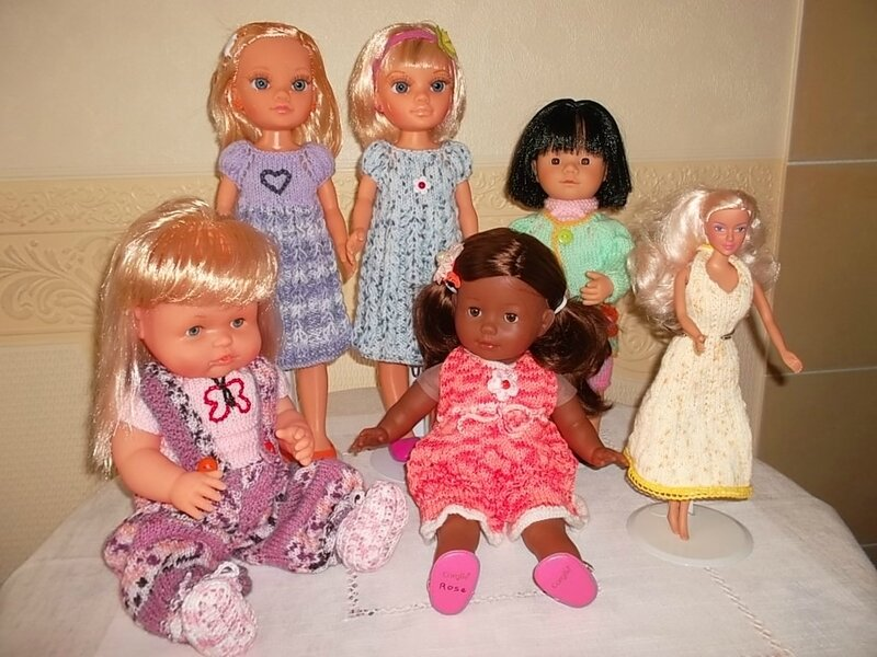 Gabrielle, Olympe, Nancy, Amarelys, Barbie, & ma petite Rose