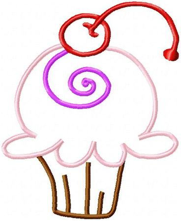 cupcake applique_