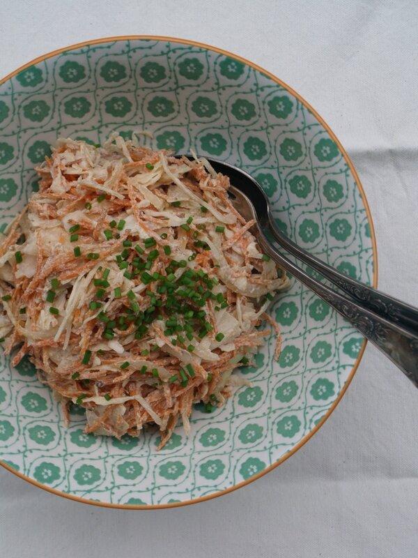 coleslaw tofu soyeux chou carotte