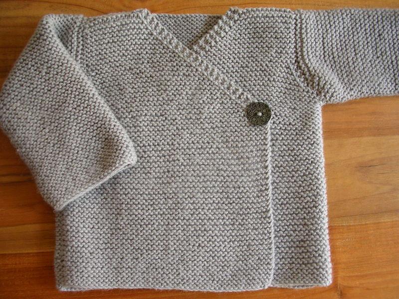 Célèbre L 87 La veste cache-cœur au point mousse - je tricote Citronille FV33