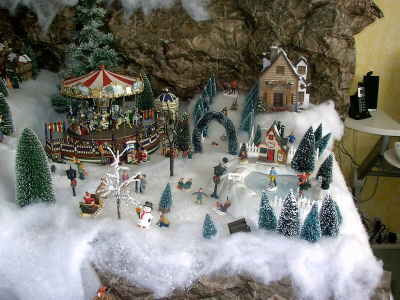 Pdr 0103 photo de village de no l 2004 noel miniature - Fabriquer un support pour village de noel ...