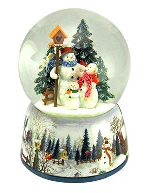 Boule à neige musicale musicale de Noël 2016 avec bonhomme de neige