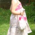 Baptême Isalyne - robe garance