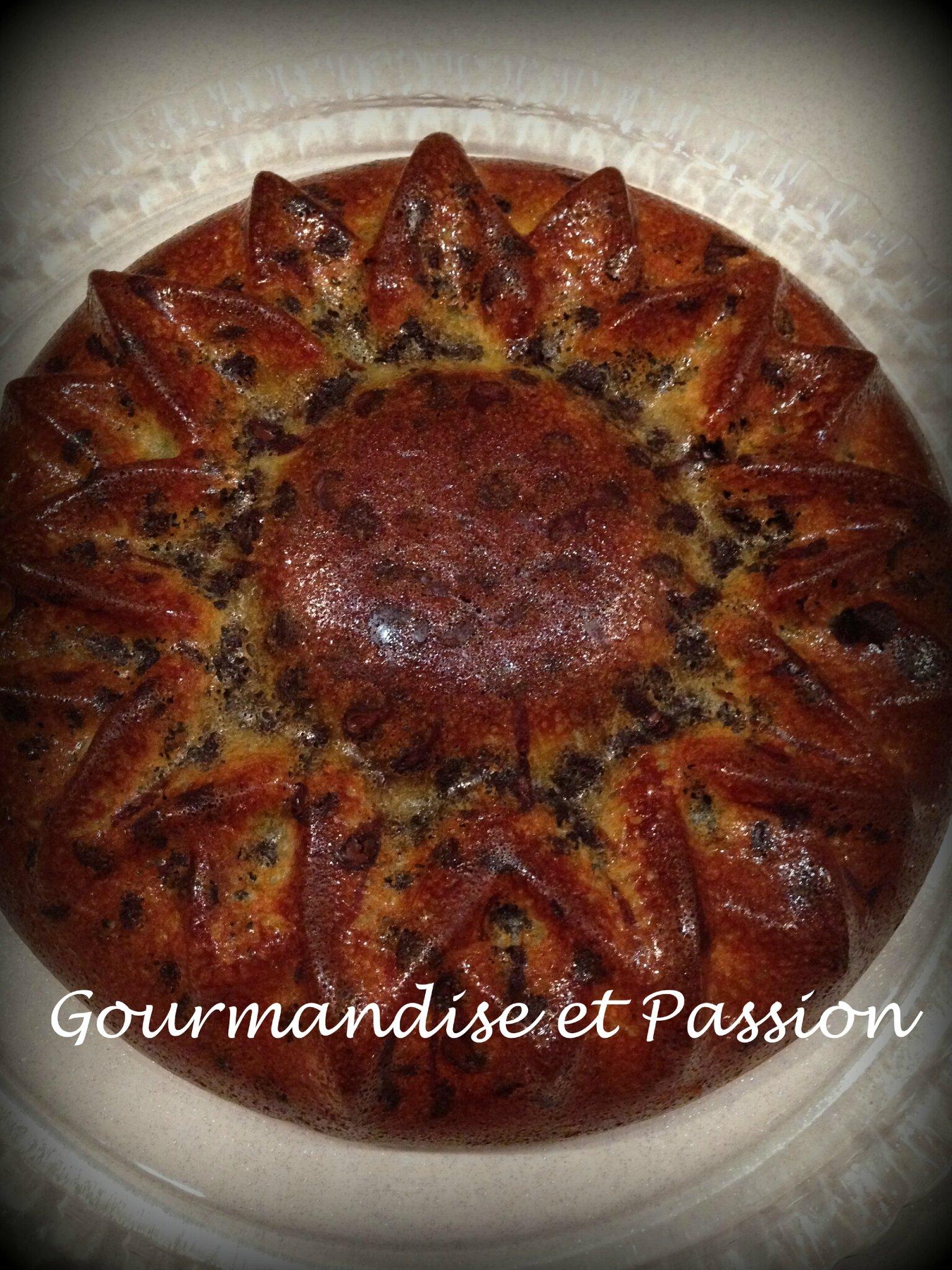 """Gâteau """"Soleil"""" aux pépites de chocolat"""