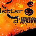 Newsletter d'halloween !