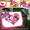 .·´¯`✿ carte cœur boutons / diy heart buttons card ·...·´¯)