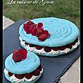 Macaron framboises et rose